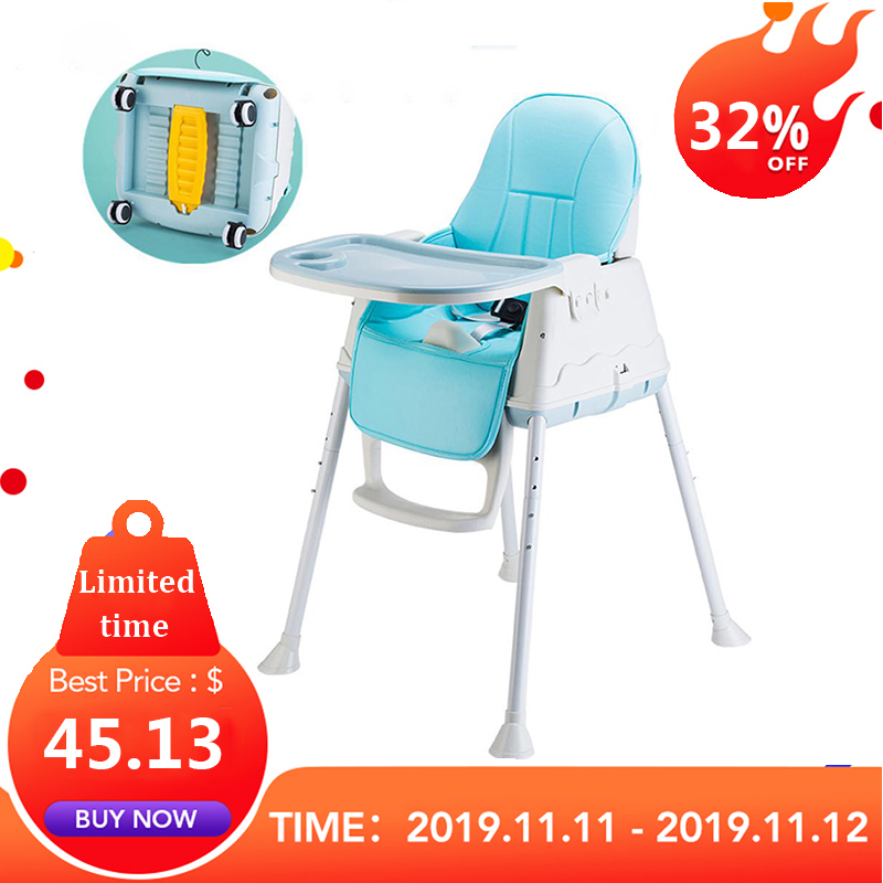 Kidlove Multifunctional Adjustable Baby Kids Safety Dining High Chair Booster With Seat Wheels Warm Cushion New High Quality