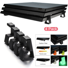 4pcs Game Console Holder Cooling Feet Horizontal Heighten Support Bracket For Sony PlayStation4