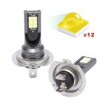 цена на 2PCS Car Fog Light H1 H3 Motorcycle Headlight H4 H7 LED H11 H8 H9 9005 9006 Bulb 3030 SMD 6500K 48W 1600LM Automotivo Auto Lamp