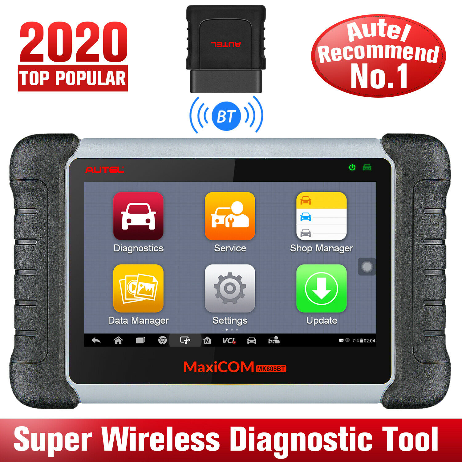 Autel MaxiCOM MK808BT OBD2 Scanner Car Diagnostic Tool Diagnosis Functions of EPB/IMMO/DPF/SAS/TMPS PK Launch X431 MK808TS|Code Readers & Scan Tools| - AliExpress