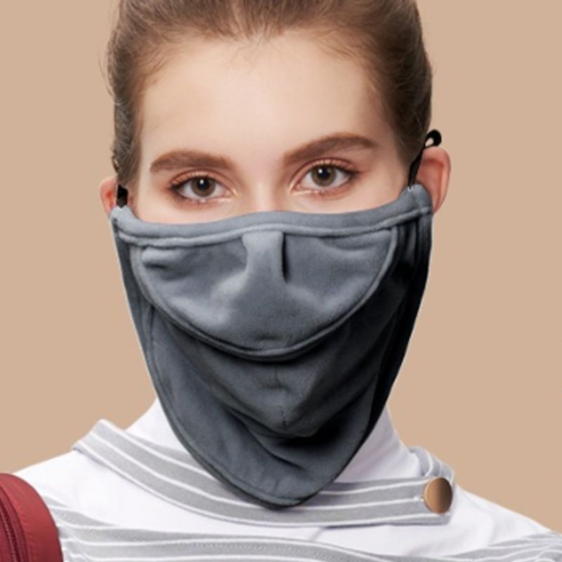 Women Men Winter Warm Face Mouth Mask Open Nose Anti-Dust Windproof Neck Gaiter AXYD