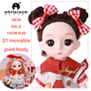 1/12 Fashion BJD Doll With Clothes 13 Movable Jointed Mini Lovely 17 CM Makeup Christmas Dress up Play House Dolls For Girls Toy