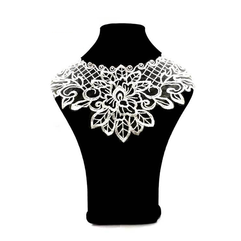 2019 Clothing Patches Lace Flower Fake Collar Necklace Sewing DIY Embroidery Accessories