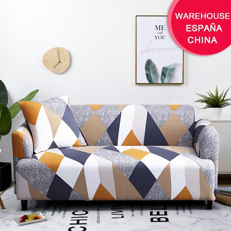 Plaid Sofa Slipcover Stretch Elastic Living-Room Home-Decor Funda Coolazy 1/2/3/4-seater