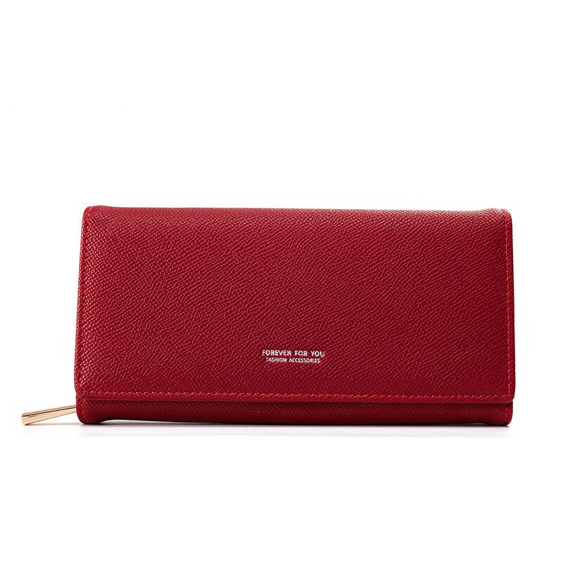 Vento Marea Women Wallet Red 2019 Long Money Bag Zipper Leather Ladies Female Purse High Quality Card Holder Brand Design Clutch