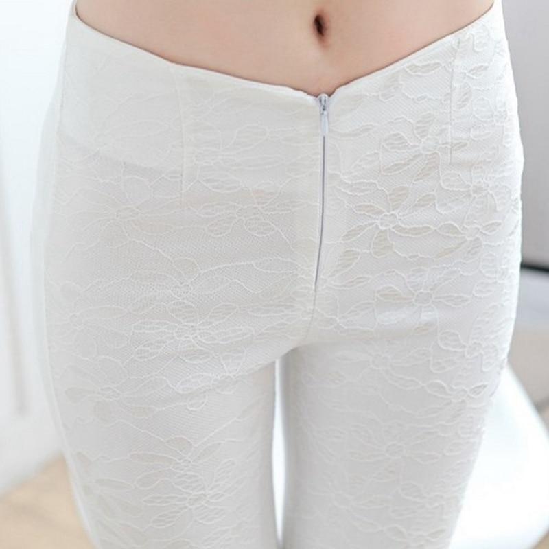 NDUCJSI Womens Legging High Waist Pants Stretchy Ladies Slim Fitness Lace Skinny Workout Leggings White Black Plus Size Trousers