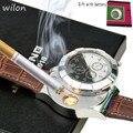 Uomo orologi Lighter Sigaretta Orologi al quarzo Ricaricabile USB del Quarzo degli uomini di Orologi Da Polso Antivento Senza Fiamma Sigaretta Ligther