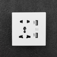 Adaptador de Cargador eléctrico de pared USB, estación de acoplamiento, placa del Panel de toma de corriente, cargador de teléfono, doble 2.1A, 5V, 110v, 220v