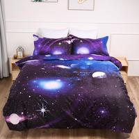 Kids Galaxy Bedding Set 3D Print Star Duvet Cover Pillowcases Twin full queen king size bedlinen 3PCS home textile
