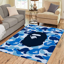 Monkey Bape Hypebeast Home Bedroom Camo Carprtrugforlivingroombedroomdecorationhomenon-Sliprugsfloormatdropshipping