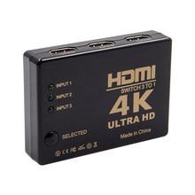 Commutateur HDMI 5 ports, 3D 1080p 4k, sparateur Hub avec commande IR pour botier HDTV DVD, sortie 5 en 1