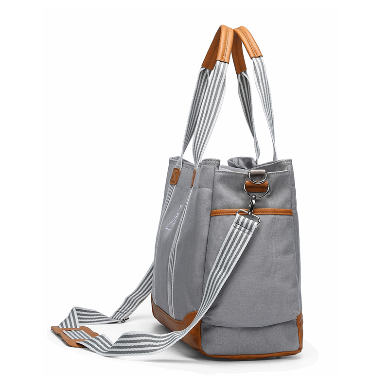 Diaper Bag for Mommy Nappy Shoudler Messenger Bags Mother Travel Luiertas Fashion Stroller Baby Infant Organizer Nursing to care (Gray)
