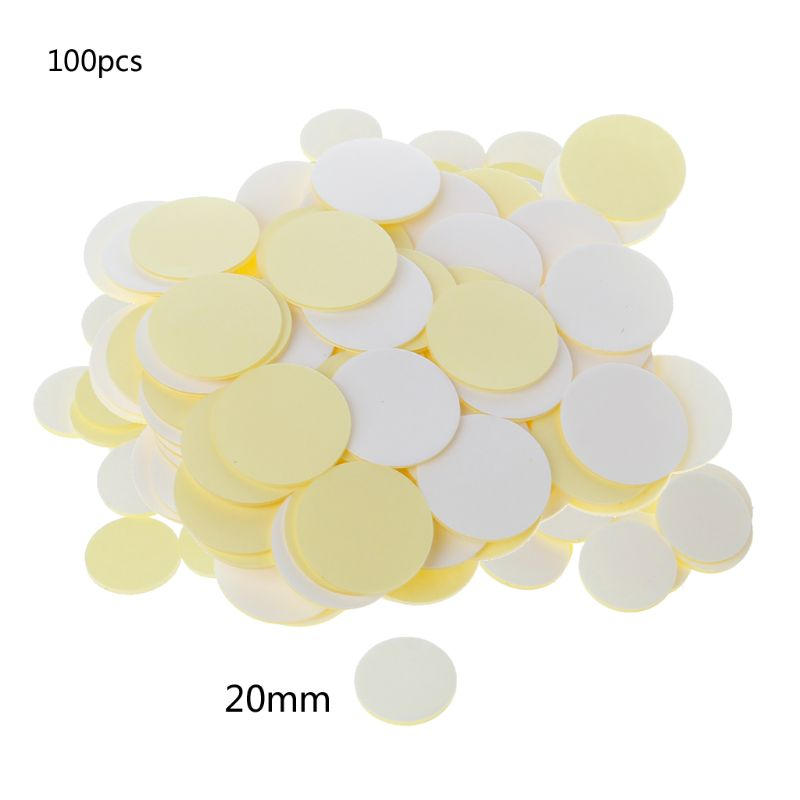 100Pcs Clear Invisible Round Double Sided Silicone Self Adhesive Dots Stickers