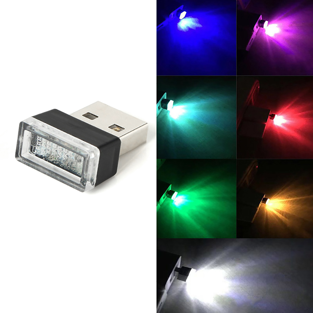 SNEWVIE HOT SALE Car Mini Usb Atmosphere Light Car Led Car Atmosphere Light Decorative Lighting