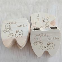 Memorial-Box Umbilical Souvenir Tooth-Box Wooden Deciduous Baby's Infant Lanugo Cord