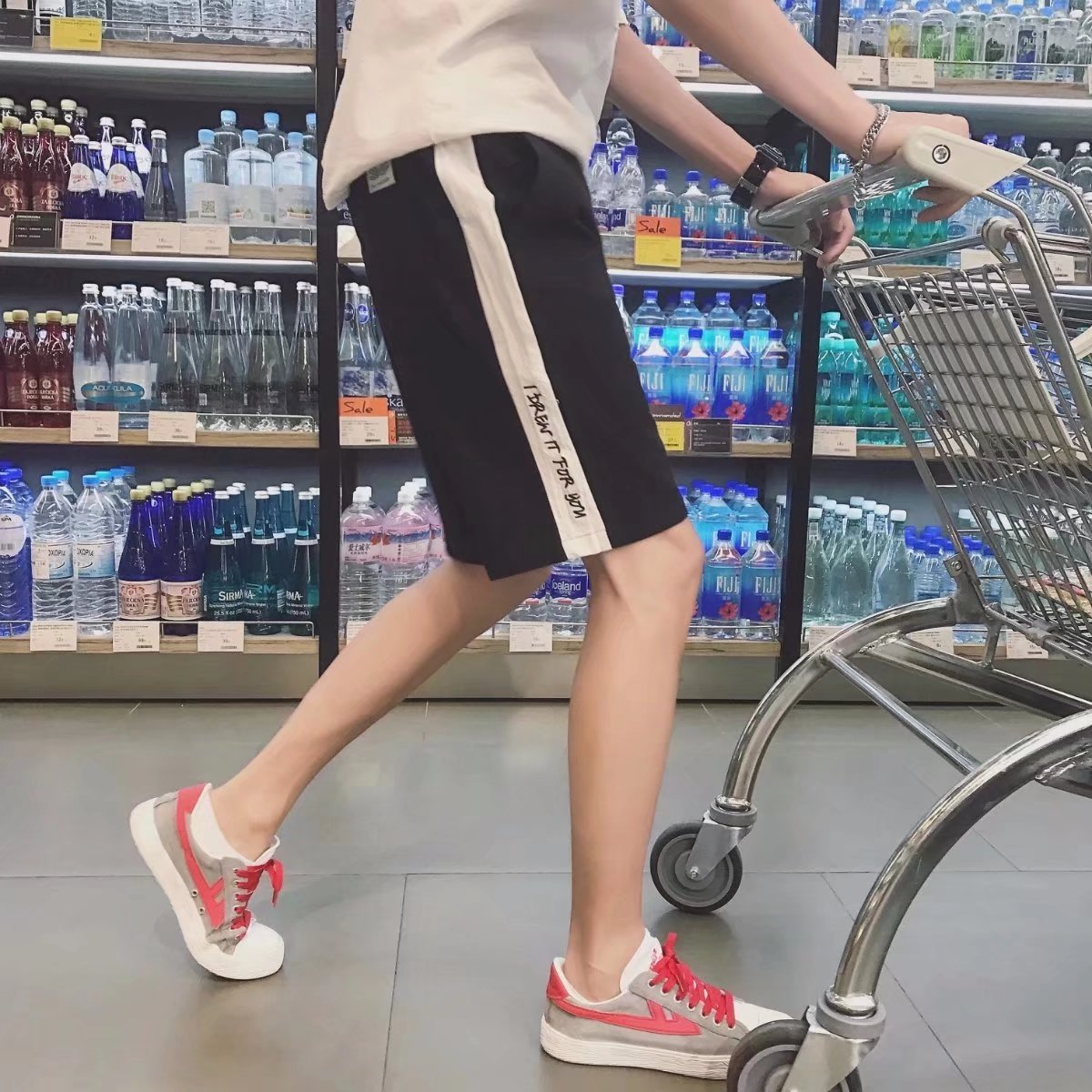 18 New Style Men's Casual Leisure Shorts BOY'S 5 Points Loose-Fit Large Trunks Zi Xia Ban Ku Leg Pajama Simple