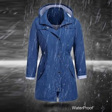 цена на windbreaker Jacket Coat Women's Solid Rain Jacket Outdoor Hoodie Waterproof Hooded Raincoat Windproof Sport Hiking Jacket