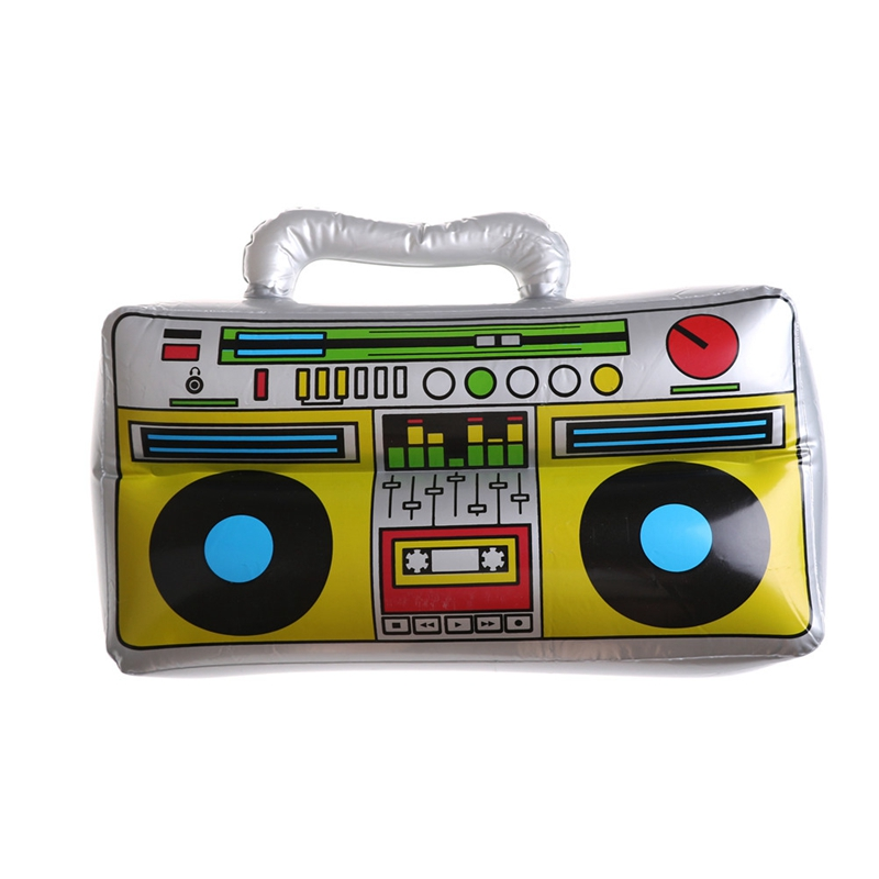 Fashion Children Pvc Inflatable Toy For Air Filler Musical Instrument Shape Pvc Birthday Beach Rock Party Radio Toys Accessories