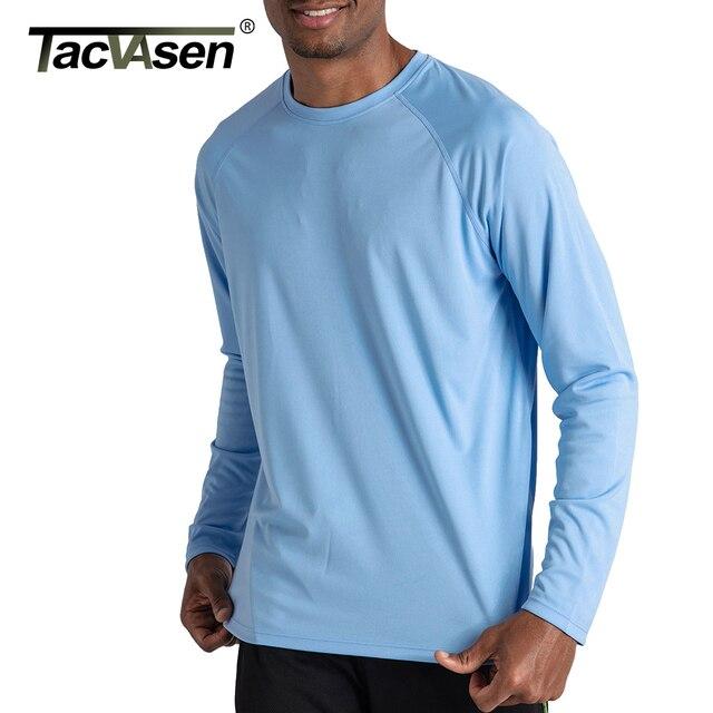 TACVASEN Men's UPF 50+ Long Sleeve Hiking Fish T-shirts  1