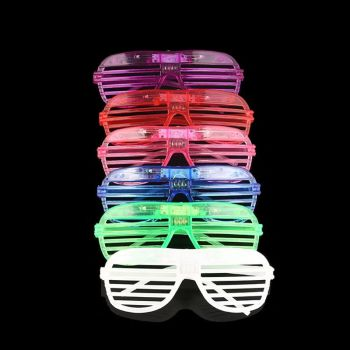 led light cosplay scary series mask rave costume lights neon led bright chrstimas blink mask nighttime glow in dark party decor 40 Pack LED Party Light Up Glasses, 6 Colors Light Up Shutter Shades Glow in The Dark New Year Gifts Rave Classroom Even