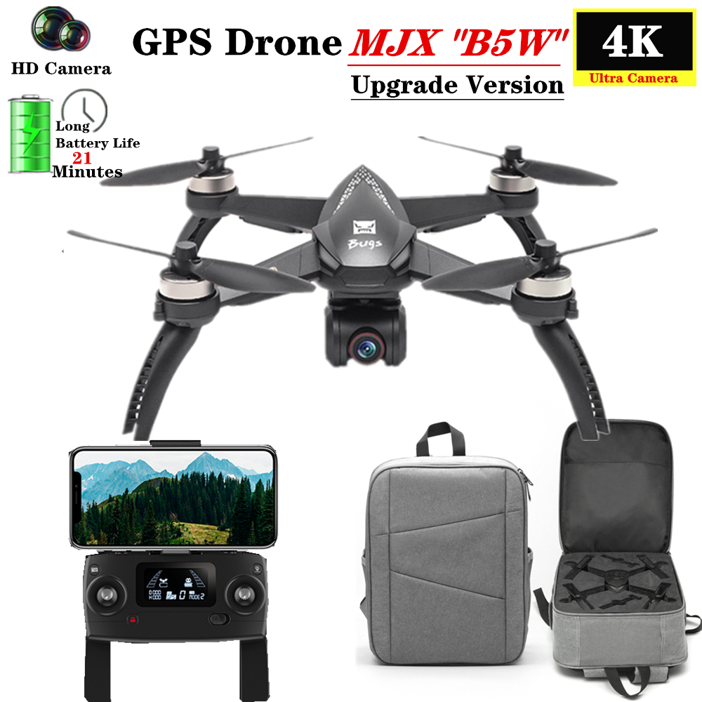 MJX B5W Upgrade Version RC <font><b>Drone</b></font> with 5G WiFi FPV <font><b>4K</b></font> Camera GPS Follow Me Mode Pro Selfie Quadcopter Fly 20 Mins VS H117S image