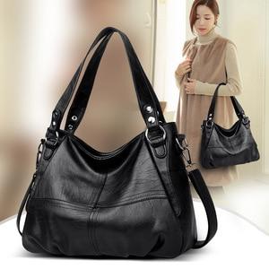 Image 5 - Damska torebka z prawdziwej skóry duża skórzana projektant duże torby z bawełny dla kobiet 2019 luksusowa torba na ramię znanych marek torebki