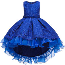 Baby Girls Princess Lace Flower Wedding Christmas Party Tutu Dress Children Kids Elegant Vestidos for 4-15Years Teenager Wear