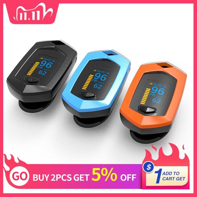 Rechargeable Finger Pulse Oximeter Oximetro De Dedo blood oxygen Heart Rate Monitor Spo2 Sports Pulsioximetro