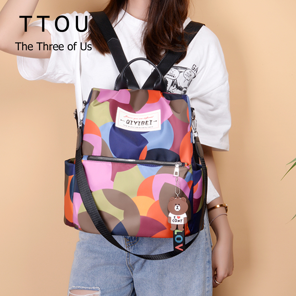 High Quality Waterproof Oxford Women Backpacks 2020 Anti Theft Backpack Female Travel Laptop Books Holder Colorful Bagpack