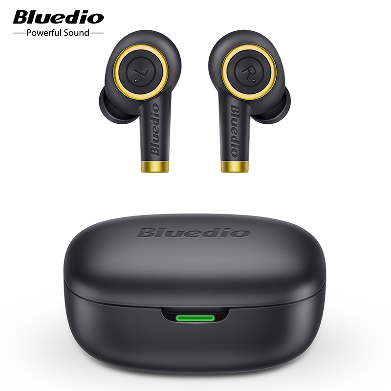 Bluedio Particle Wireless Earphone Bluetooth 5 0 Bass Waterproof Earbuds Wireless Headset Sport TWS Charging Box Mic