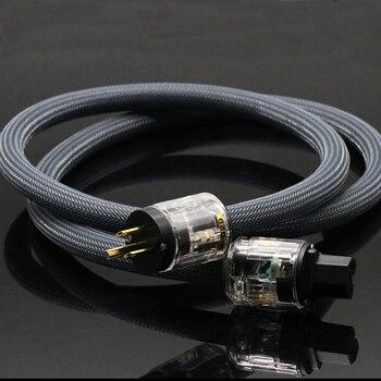 hifi audio 400 signature version US/EU power cord pure copper power cable with P-029/P-029E power plug connector