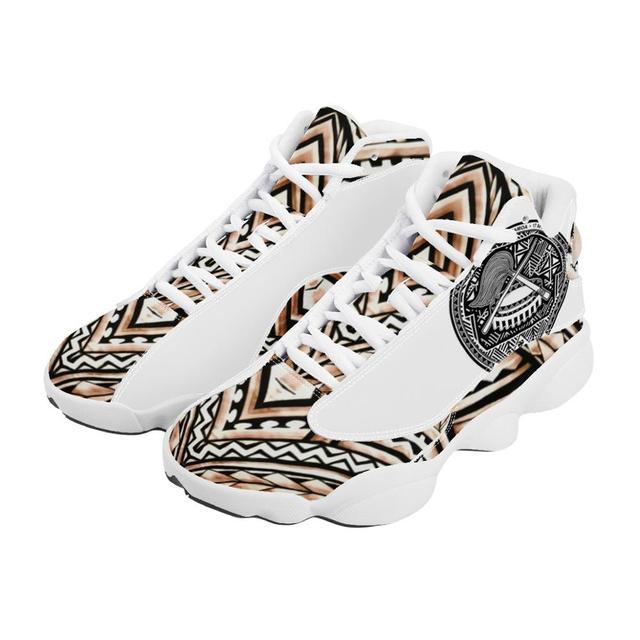Diseño de lujo de la Polinesia Samoa tribu estilo niño zapatillas de deporte Zapatos de bola Logo de equipo deportivo de Baloncesto de los hombres zapatos deportivos 2