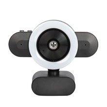 Microphone Webcam Rotation Noise-Canceling Usb with Beauty-Lamp Usb-3.0 360-Degree 2K