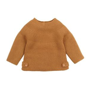 Baby Products Baby Clothes Boy Girl Sweater Autumn Baby Solid Print Cardigan Casual Cotton Knitted Outerwear Baby Coat Clothes(China)