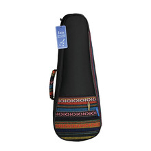 21 Inch Portable Cotton Nylon Padded Bass Guitar Gig Bag Ukulele Case Box Guitarra Cover Backpack With Double Strap yibuy black 36 inch nylon water resistant gig guitar bag backpack