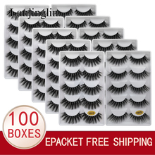 LANJINGLIN pestañas postizas 3d de visón, 5 pares, pestañas postizas naturales, 10/100 cajas