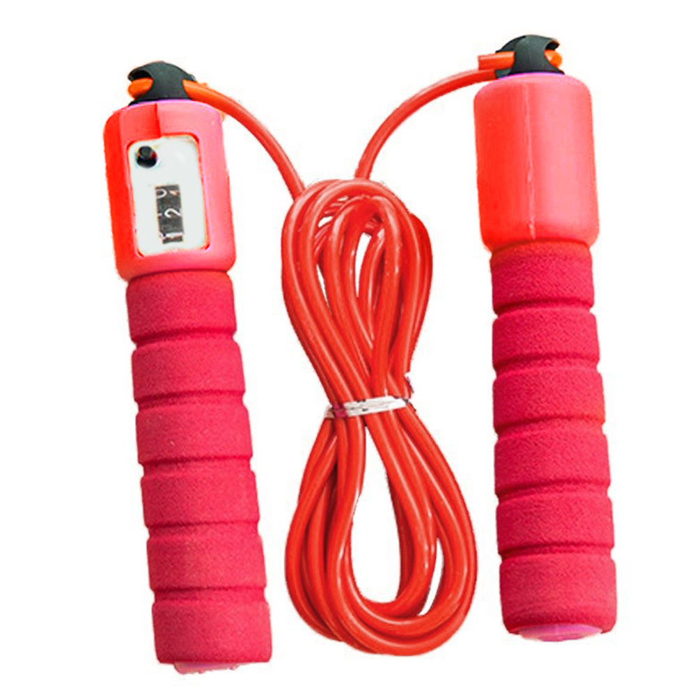 <font><b>Skipping</b></font> Sponge <font><b>Handle</b></font> Exercise Fitness Adjustable With Counter Bearing Design -free Sports Supplies Jump <font><b>Rope</b></font> image