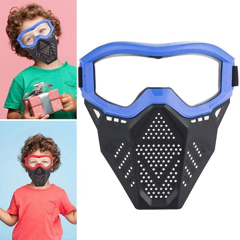 Explosive Soft Bullet Mask Children's Shooting Game Face Protective Equipment Toy Soft Bullet Gun Battle Mask For Kids