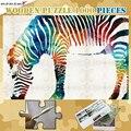 Jigsaw Puzzle 300 500 1000 Pieces Criativo Animal da zebra De Madeira Quebra-cabeças para Crianças Adultos 1000 Peças Puzzles Jogos Brinquedos Decoração Da Sua Casa