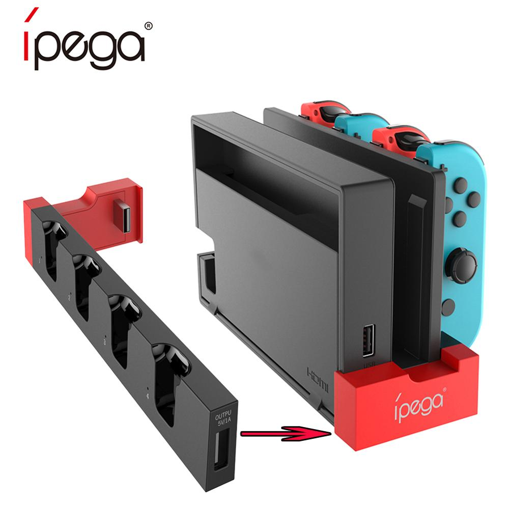 IPega PG-9186 Game Controller Charger Charging Dock Stand Station Holder For Nintendo Switch Joy-Con Game Console With Indicator