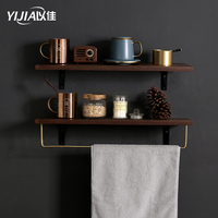 Wooden Decorative Wall Shelf Makeup Storage Rack Organization Kitchen Living Room DIY Wall Rack Home Decor