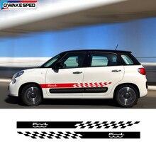 Auto Tür Seite Rock Aufkleber Für Fiat 500L Limited Edition Sport Streifen Auto Körper Decor Vinyl Decals Außen Zubehör