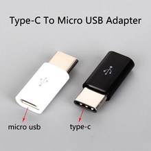 Type C To Micro USB Adapter Mini OTG Type-c Converter Charging Data Transmission 2 In 1 Android Jack Adaptador Usb Splitter(China)