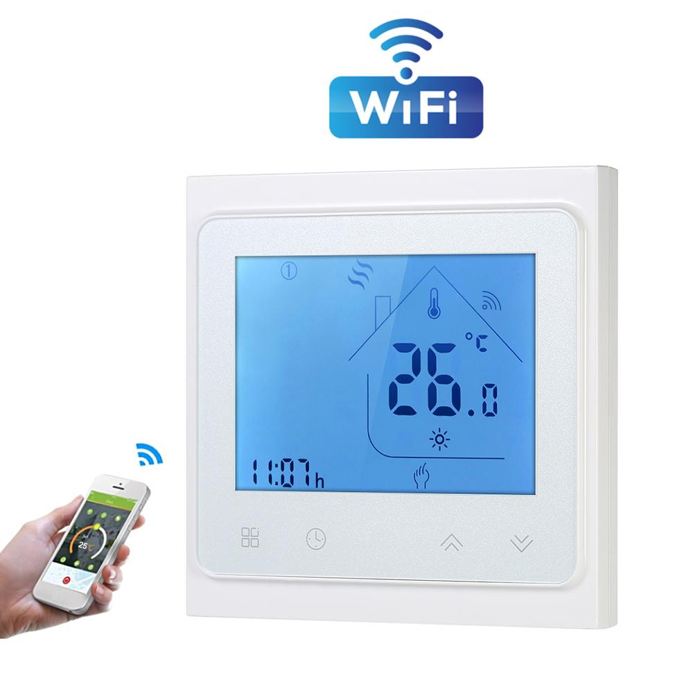 Teekar 95-240V WiFi Smart Thermostat Temperature Controller For Water Electric Heating Gas Boiler Works With Alexa Google Home