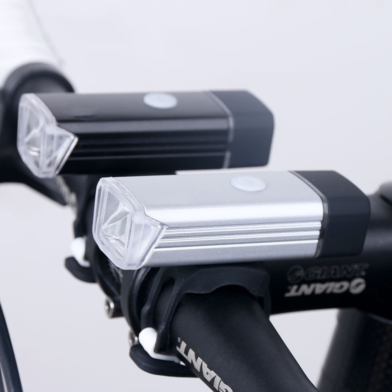Silver LED Bicycle Front Light Flashlight 3 Modes Bike Night Cycling Torch