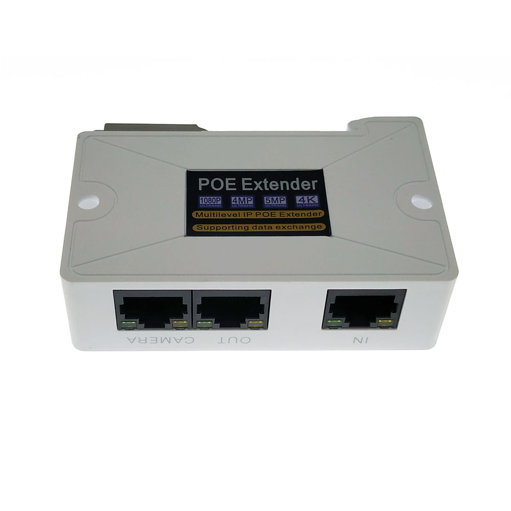 PoE Extender 1 Input 2 POE Output  Support Standard POE Power Supply 2MP/3MP/4Mp/5MP/4K HD Camera For Long Distance Cctv System