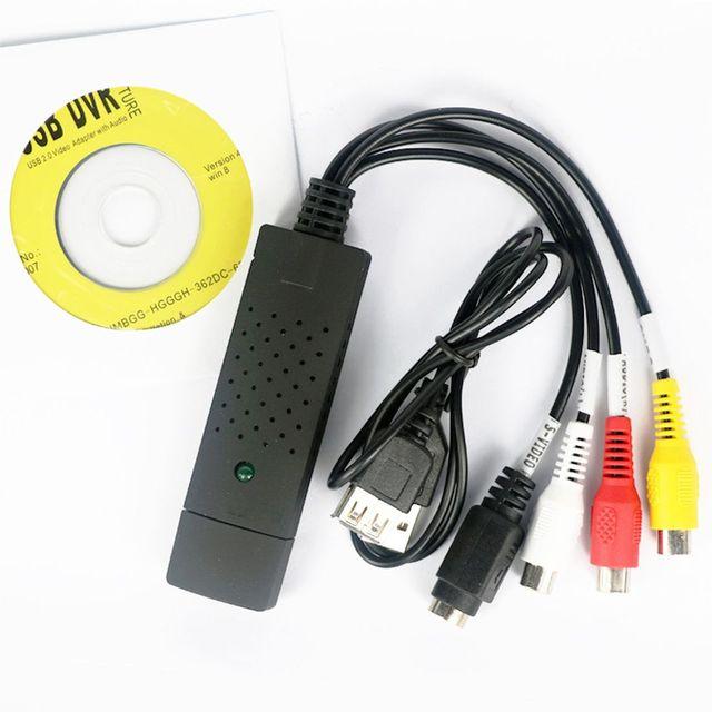 XT-XINTE USB فيديو بطاقة التقاط الصوت والفيديو محول TV DVD VHS كابتورا ديف ديو بطاقة الصوت AV للكمبيوتر/كاميرا تلفزيونات الدوائر المغلقة USB 2.0 EasyCAP DC60