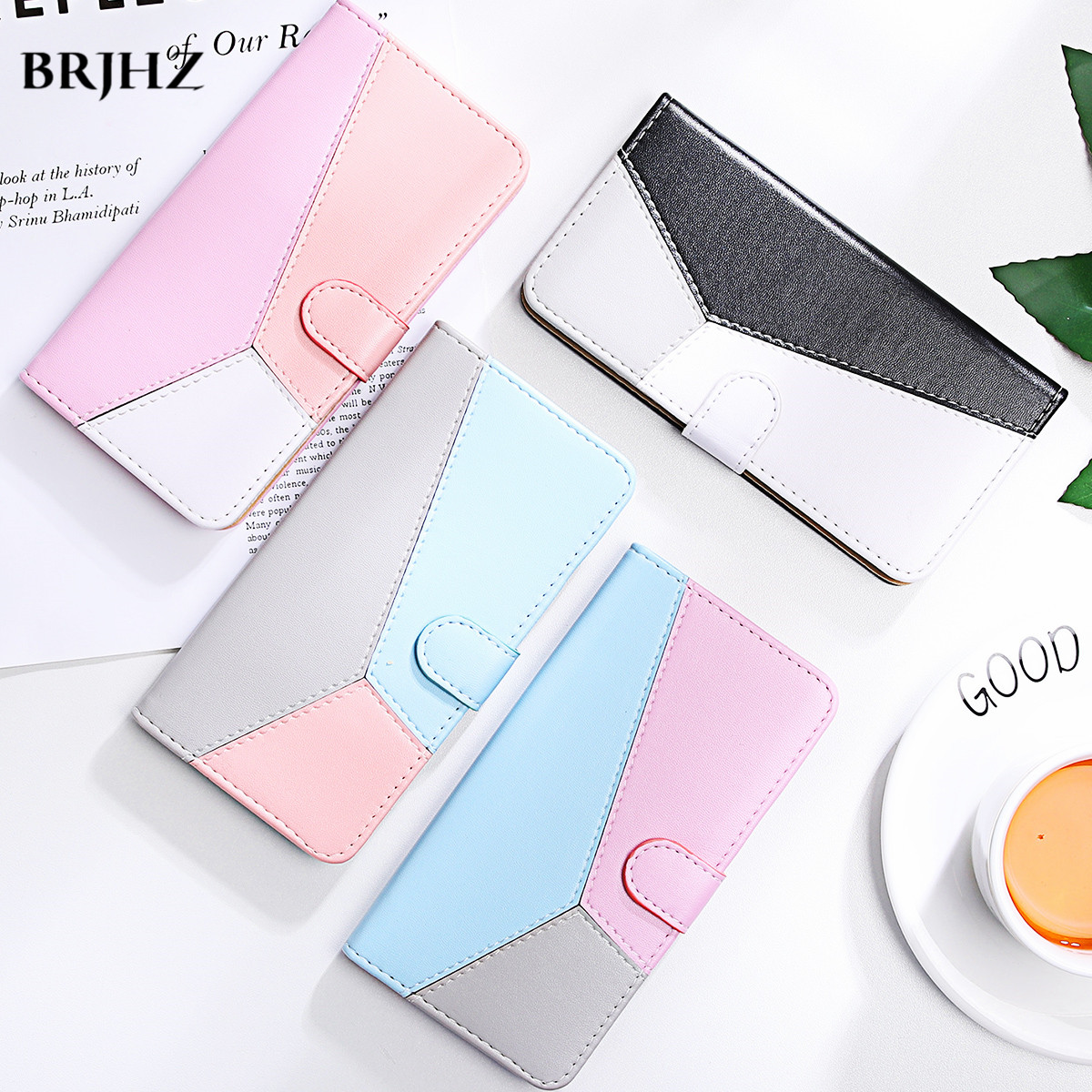 For <font><b>iPhone</b></font> 5 <font><b>5s</b></font> <font><b>Case</b></font> Leather Flip <font><b>Case</b></font> for <font><b>iPhone</b></font> 11 Pro XS Max <font><b>Wallet</b></font> Magnetic Cover for <font><b>iPhone</b></font> 8 7 6S 6 Plus XR X Phone <font><b>Cases</b></font> image