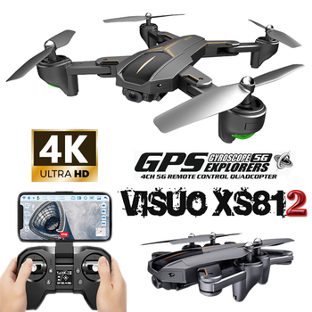 VISUO XS812 RC GPS Drone Drones with Camera HD 4 k 5G WIFI Altitude Hold Follow Mode Quadcopter Dron Remote Control Helicopter