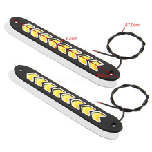 auto accessories 2pcs 12V Car LED Strip DRL Daytime Running Lights Turn Signal Lights for car parts 3000K@6000K daytiime running lights car styling for v olvo xc60 2009 2013 drl led auto parts